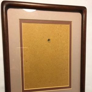 Vintage, Walnut stained frame